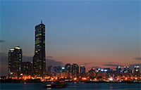 """""""Seoul-Yeouido.at.dawn-01"""" by Patriotmissile at the English language Wikipedia. Licensed under CC BY-SA 3.0 via Wikimedia Commons - http://commons.wikimedia.org/wiki/File:Seoul-Yeouido.at.dawn-01.jpg#mediaviewer/File:Seoul-Yeouido.at.dawn-01.jpg"""