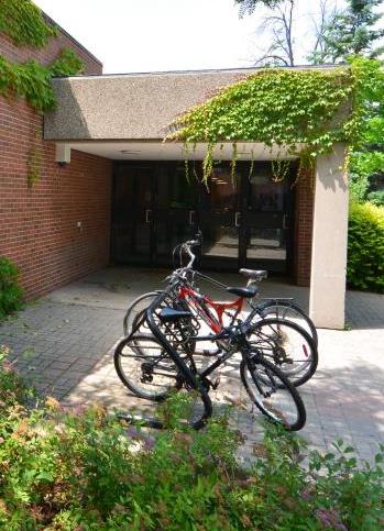 a bike rack at York U