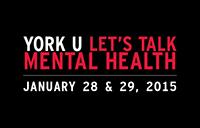 York U Let's Talk Mental Health 2015 poster