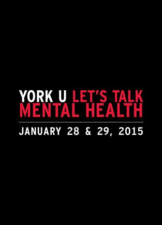 York U Let's Talk Mental Health poster