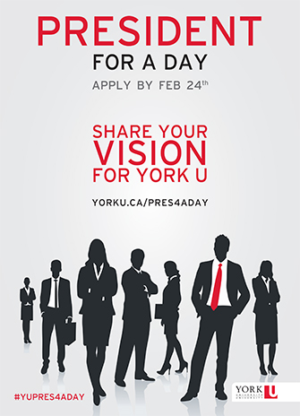 President for a day poster