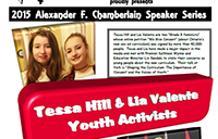 Alexander F. Chamerlain Speaker Series poster
