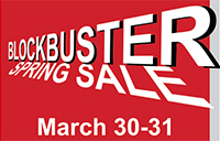 Bookstore's blockbuster spring sale poster