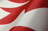 Partial Canadian flag
