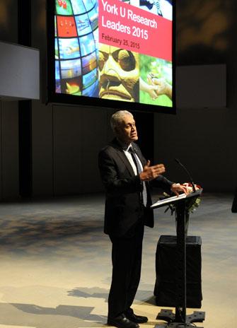 Shoukri at the podium
