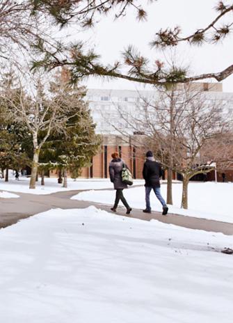 Winter scene on the Keele campus