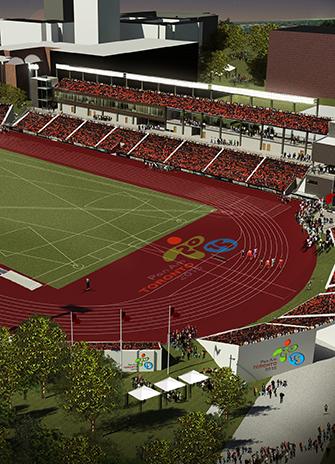 CIBC Pan Am Parapan Am Athletics Stadium track