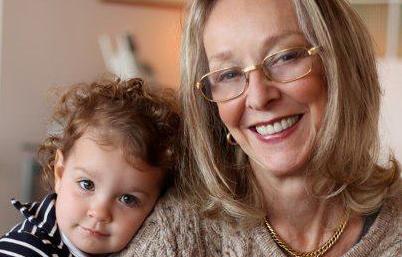 Professor Maria Legerstee with her grand-daughter Olivia