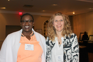 Above: From left, MScN students Kadeen Briscoe and Sally Baerg