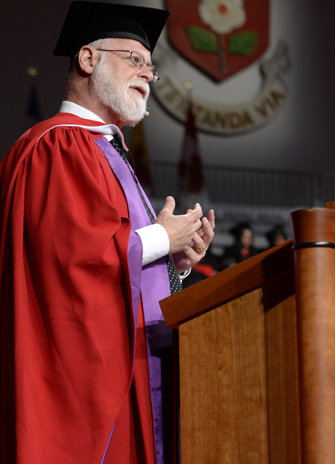Alberto Manguel addresses convocation