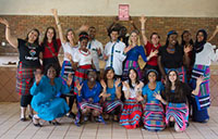 Fifteen York University students wrote a children's book after spending a month in a South African village during a study abroad program.