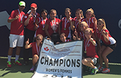 The York University Lions women's tennis team won its first national title at the Canadian University Tennis Championships on Sunday (Aug. 16) after an undefeated season