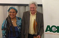 Professor Reed receives an award