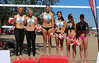 Two York Lions volleyball players captured gold medals at the championships