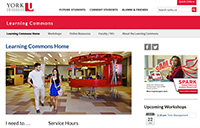 York University Libraries has launched a new web page for the Learning Commons