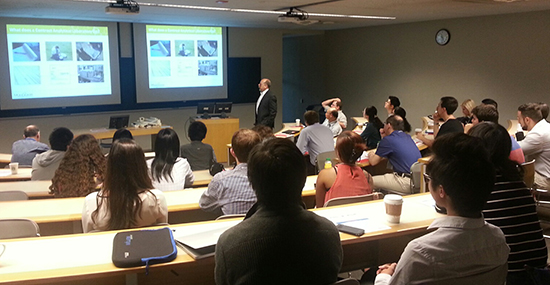 Graduate students hear from leading researchers at the workshop