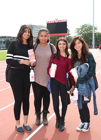 Fourth-year biology students Sonia, Simran, Sabna and Tara enjoyed the events at Pan.de.mo.ni.um