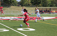 York University Lions women's soccer team took a 7-1 victory over the Brock University Badgers in their home opener on Saturday afternoon at York Stadium