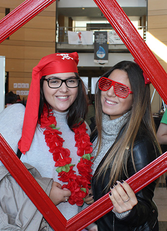 Students celebrate York U pride during Red & White Day