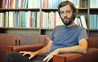 Jacinto Lucas Pires, a Portuguese novelist, playwright, film director and musician, is the guest speaker at the Lusophone Coffee Hour (image: Marcia Lessa)