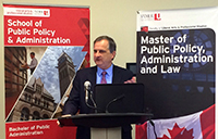 York University alumnus Steve Orsini was the guest speaker at the annual Ontario Public Service (OPS) Breakfast, presented by the School of Public Policy and Administration (SPPA)