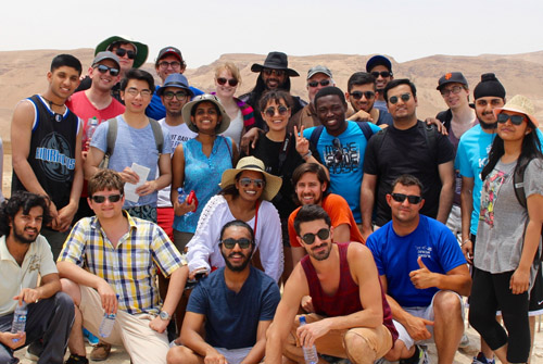 Above: The Lassonde School of Engineering students pose for a group photo during their summer trip to Israel