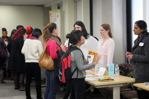 Students and agency partners at the agency fair
