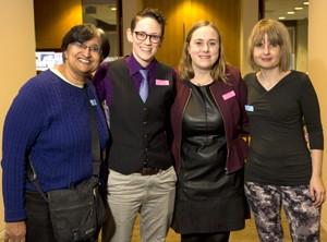 Representatives from the graduate program in gender, feminist and women's studies