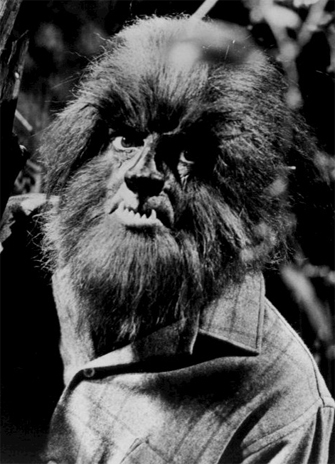 Photo of Alex Stevens as a werewolf from the supernatural daytime drama Dark Shadows. Photo: Wikimedia Commons