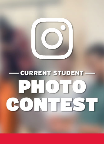 Current student photo contest image with words current student photo contest