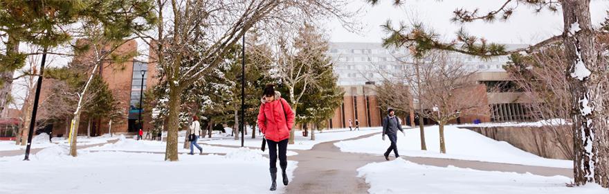 campus winter vignette