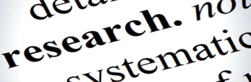 Featured image for the postdoc research story shows the word research in black type on a white background