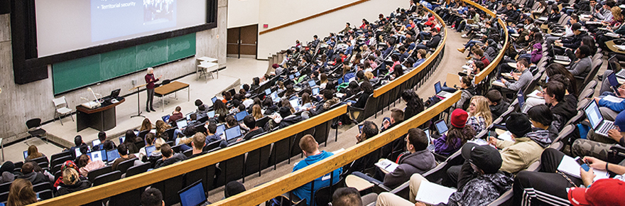 image shows a class in the Curtis Lecture hall