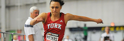 Holly Pitters set a new school record in the long jump