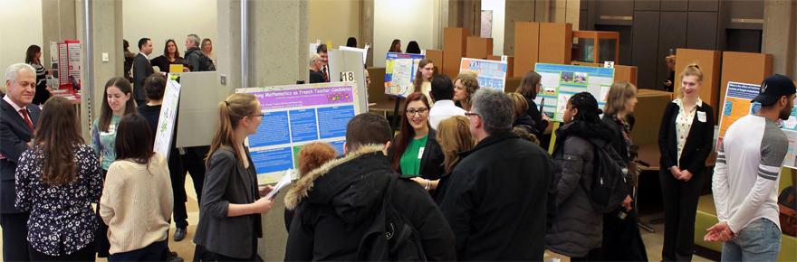 Particpants at the 2016 Undergraduate Research Fair event in the Scott Library