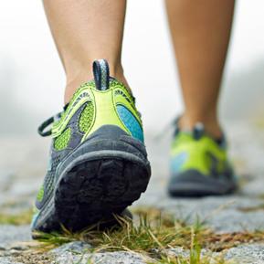 walking in runners