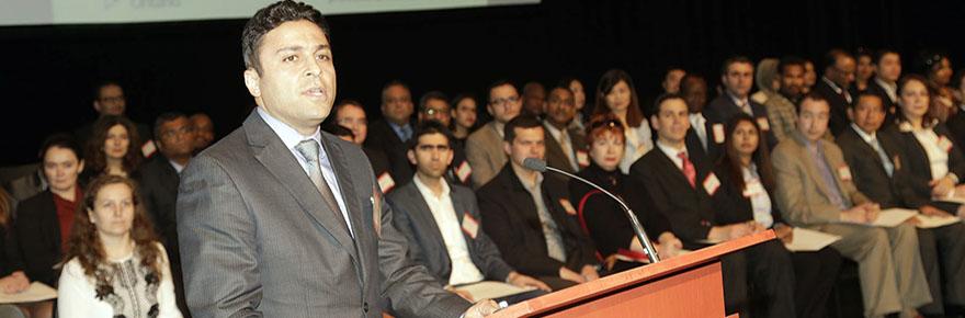Farhad speaking