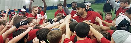Lions football camp