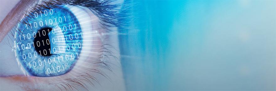 VISTA image showing an eyeball