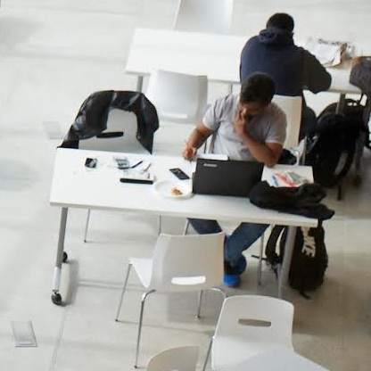 students at a cafeteria table