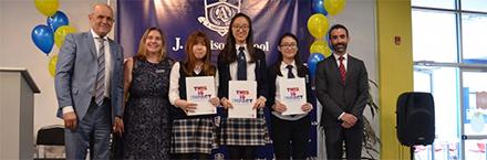 International students receive scholarships from York U