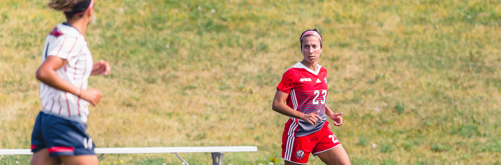 Lions soccer players in their game against Brock University
