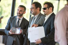 Isaac Garcia-Sitton, Director, International Education and YUELI, School of Continuing Studies, Maflah Aswyad Alenezi, and Hatim Mesfer M Alsayyali