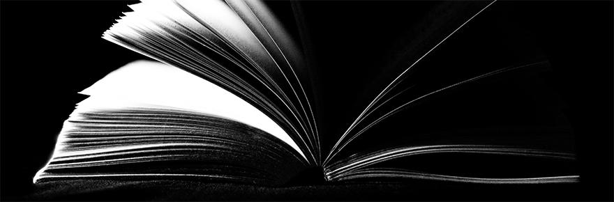 A book is fanned open
