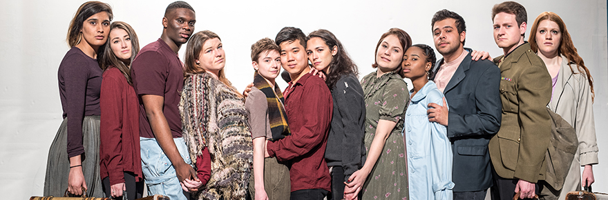 The cast of Theatre @ York's Post National, created and performed by fourth-year students from York University's Acting Conservatory. Photo courtesy of the York U Department of Theatre