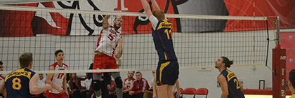 York U lions mens volleyball