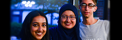 From left: Jaitra Sathy, Humaima Ashfaque and Edwar Dommar, pictured at the CCR International Conference