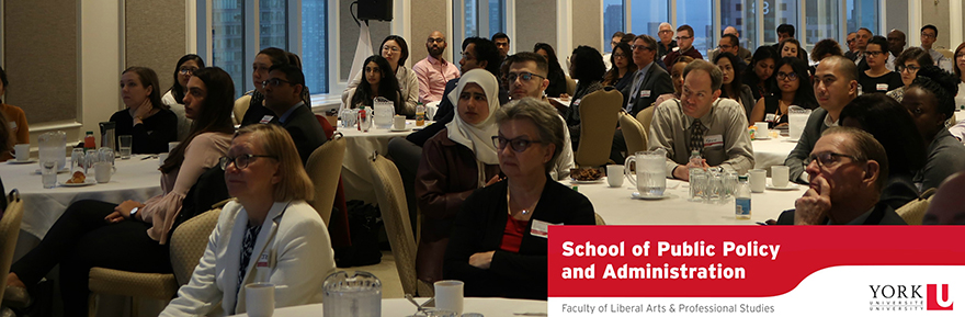 Faculty, students, alumni and special guests at the 2018 Ontario Public Service Breakfast hosted by the School of Public Policy and Administration
