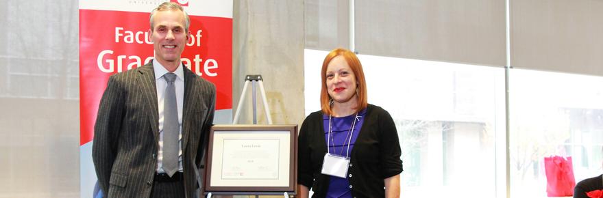 Faculty of Graduate Studies Dean Tom Loebel and Professor Laura Levin