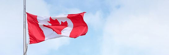 Canadian flag at half staff